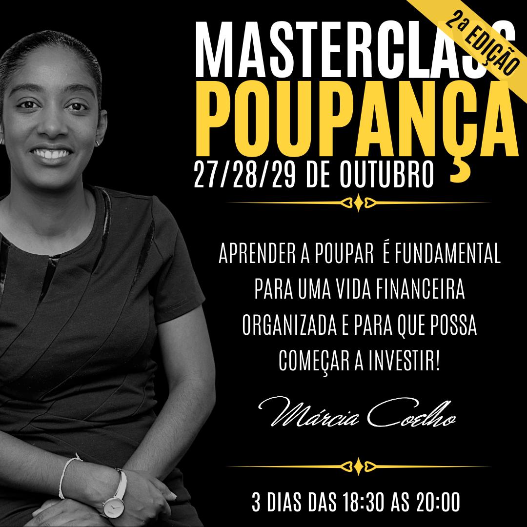 MasterClasse Poupança 2ªEd. 27-29 Out.